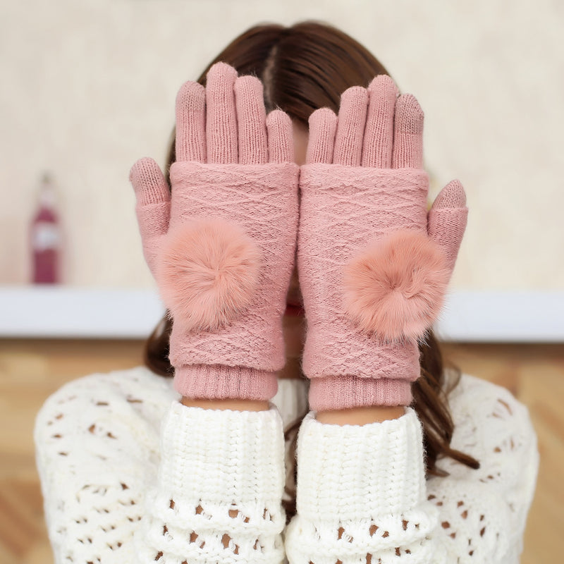 Touch Screen Gloves 2in1 - Pink - iThinksmart.gr