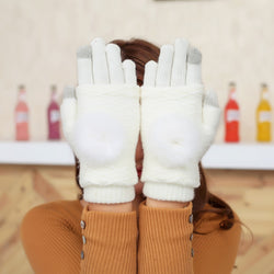 Touch Screen Gloves 2in1 - White - iThinksmart.gr