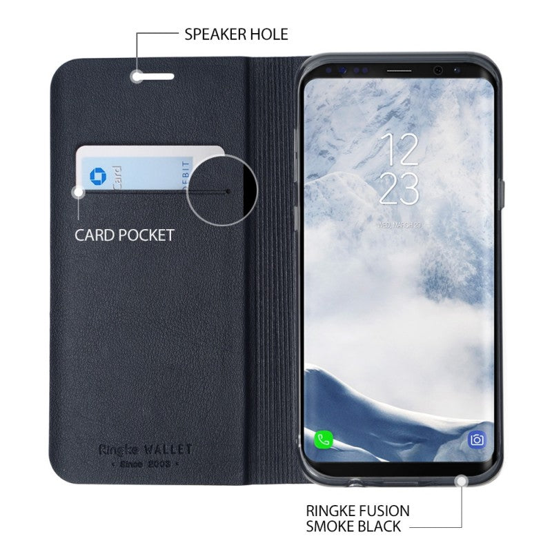 Θηκη Ringke Wallet Fit - Galaxy S8 Plus - Μαυρο - iThinksmart.gr