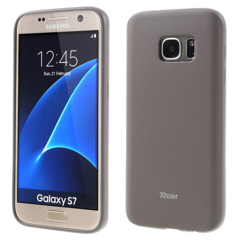 Θηκη TPU Roar Colorful Jelly - Galaxy S7 - Γκρι - GS7-P5GY,  , Θήκη, ROAR - i-Think - 1