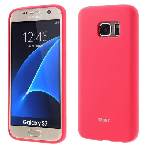 Θηκη TPU Roar Colorful Jelly - Galaxy S7 - Ροζ - GS7-P5P,  , Θήκη, ROAR - i-Think - 1