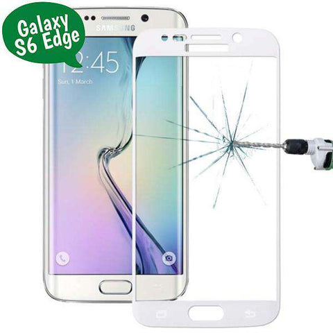 Tempered Glass Curved - Galaxy S6 Edge (G925) - Λευκο - iThinkSmart.gr