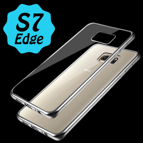 "Θηκη TPU ""Luxury Frame"" Ασημι - Galaxy S7 Edge - GS7E-P2S,  , Θήκη, i-Think - i-Think"