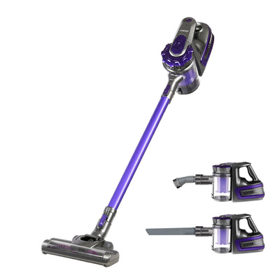Devanti 150 Cordless Handheld Stick Vacuum Cleaner 2 Speed   Purple And Grey - Devanti