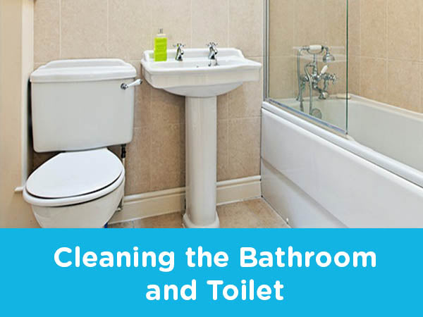 Cleaning The Bathroom And Toilet