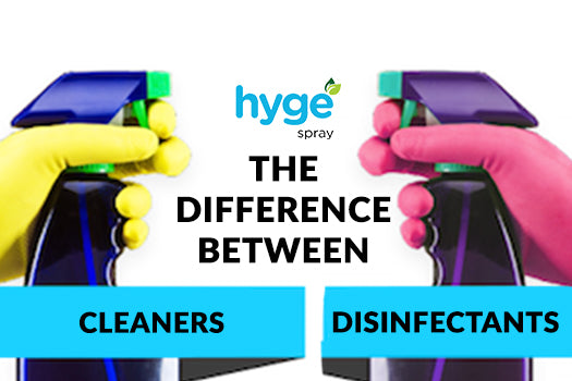 The Difference Between Cleaners And Disinfectants