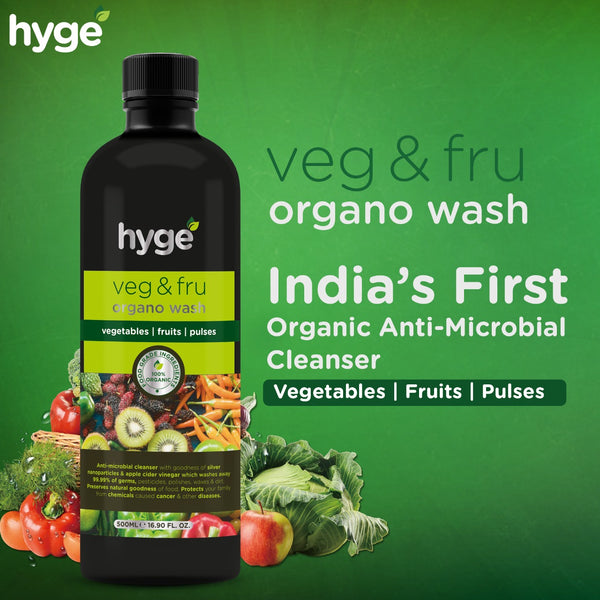 Hyge Veg & Fru Organo Wash Cleanser- 500ml