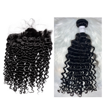 Load image into Gallery viewer, Deep Wave Lace Frontal + Bundles
