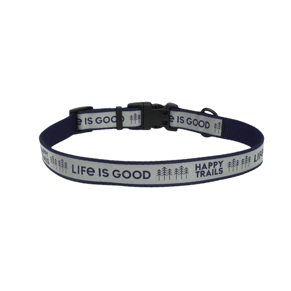 Happy Trails Reflective Dog Collar