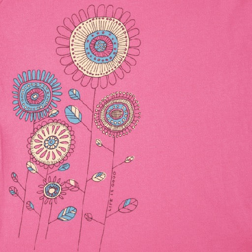 Girls Smooth Tee Flowers