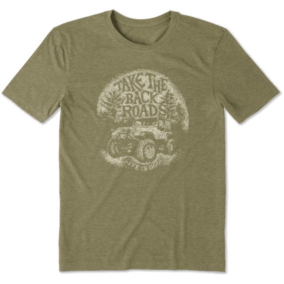 Men's Cool Tee Take the Back Roads