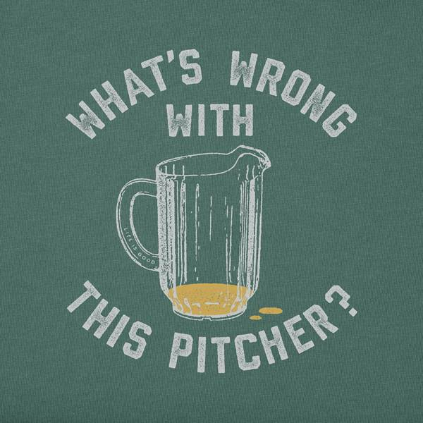 Men's L/S Crusher Tee What's Wrong with this Pitcher