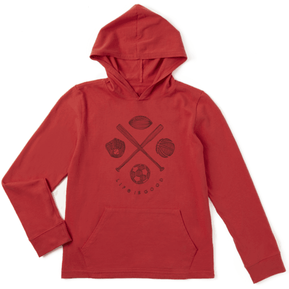 Boys L/S Hooded Crusher Tee Sports Addict