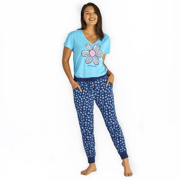 Women's Snuggle Up Sleep Joggers Floral Element