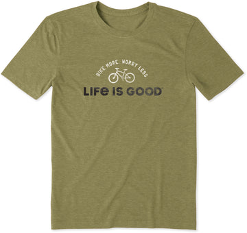 Men's Cool Tee Bike More Worry Less
