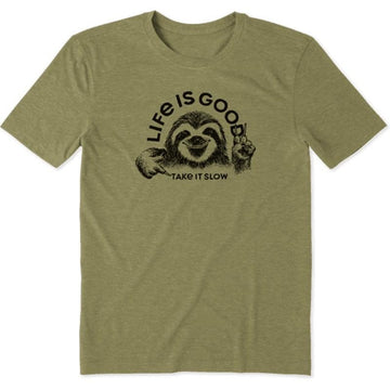 Men's Cool Tee, Take it Slow Sloth