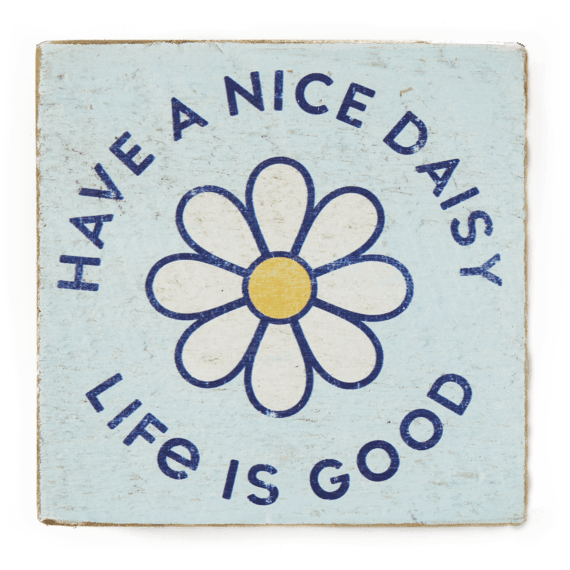 Small Wooden Sign Have a Nice Daisy