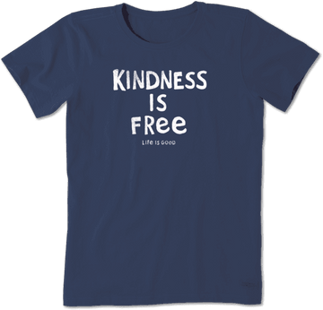 Women's Crusher Tee, Kindness is Free