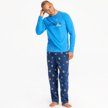 Men's Classic Sleep Pant, Cabin Landscape