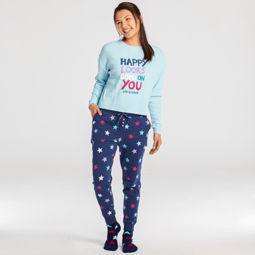 Women's Snuggle Up Sleep Jogger, Stars