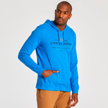 Men's L/S Hooded Crusher Positive Lifestyle Compass