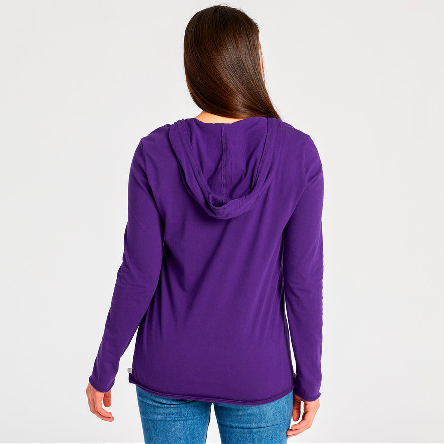 Women's L/S Hooded Smooth Tee Freebird