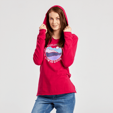 Women's L/S Hooded Smooth Tee Life Isn't Perfect