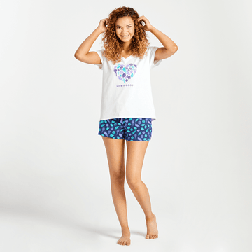 Women's Sleep Shorts Shell Print