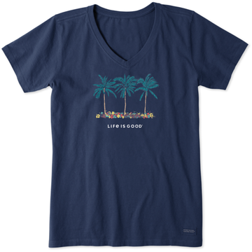 Women's Crusher Lite Tee Palm Flowers