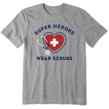 Men's Crusher Tee Superheroes Wear Scrubs