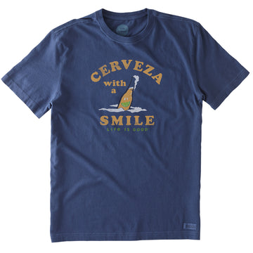 Men's Crusher Tee Cerveza with a Smile