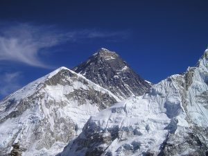 the top of Everest