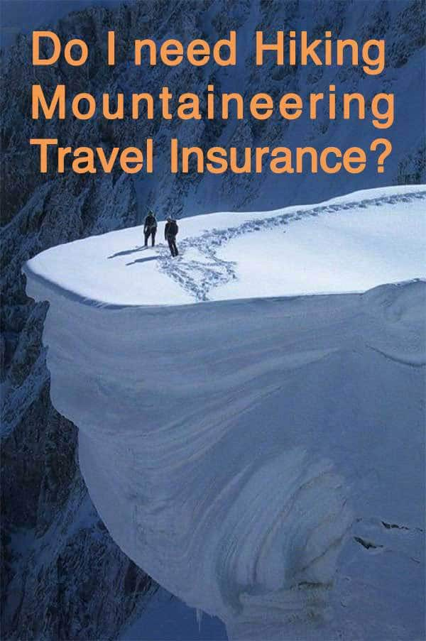 hiking mountaineering travel insurance
