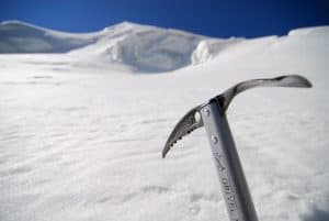 Ice-axe used for climbing ice mountain
