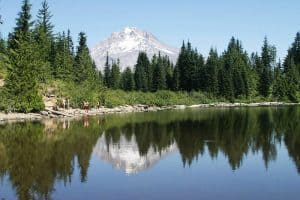 Mirror Lake reflecting Mt. Hood
