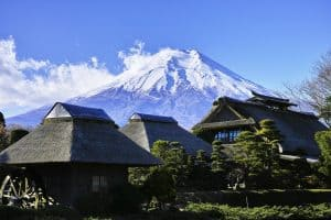 Mountain huts at Mt. Fuji