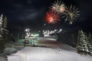 Skibowl at Mt. Hood with fireworks