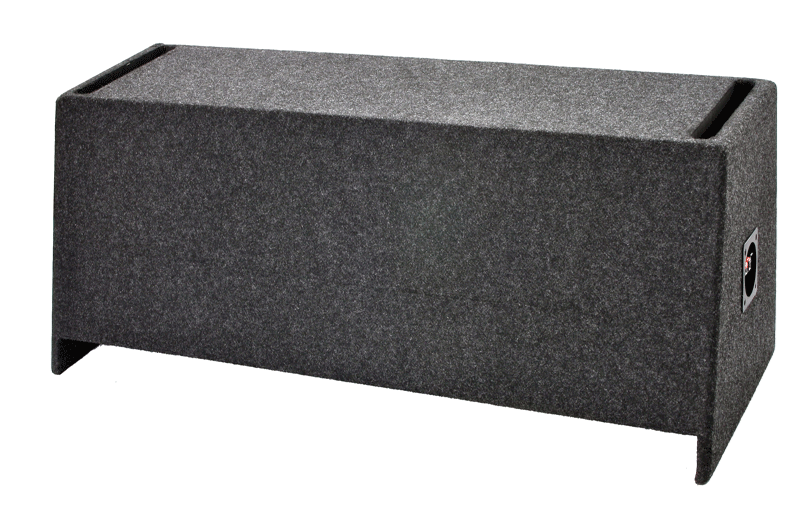 "A122-12CPV Dual 12"" Vented Carpeted  - Fits most SUV's behind back seat"