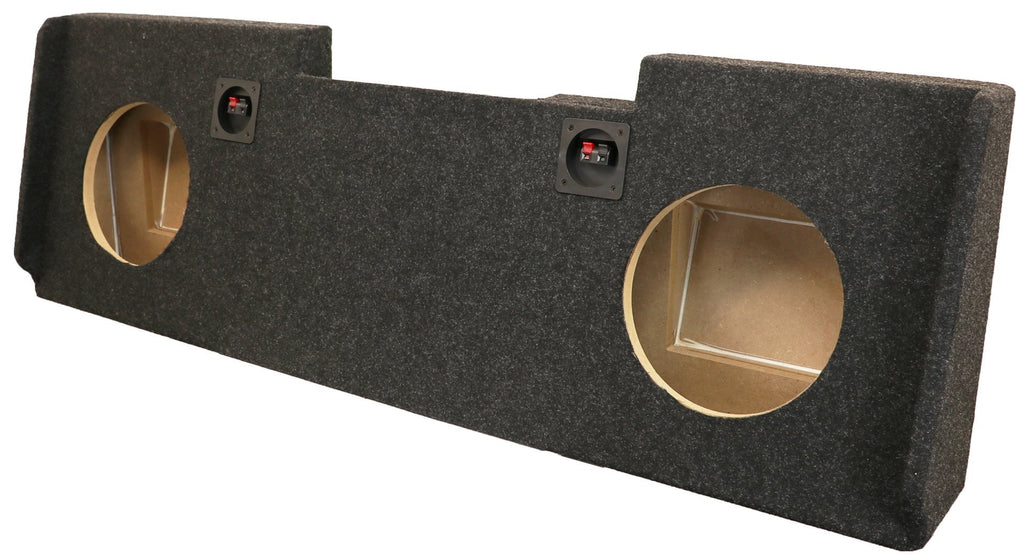 "A184-10CPA Dual 10"" Sealed Carpeted with AMP Space - Fits 2014 - 2018 Chevrolet-GMC Silverado-Sierra Crew Cab"