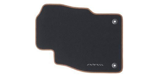 Vauxhall ADAM - Floor Mats Carpet Velour - Black with Brandy Binding