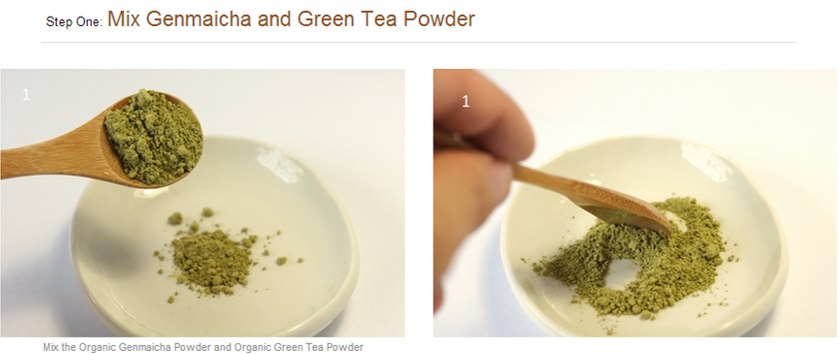 Organic genmaicha green tea ice cream