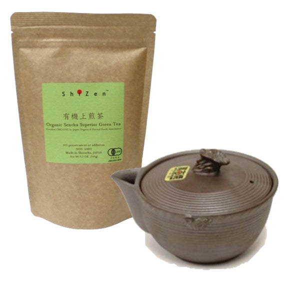 Starter Kit #1 Organic Loose Leaf and Banko Yaki Tea Pot Kyusu - Swan