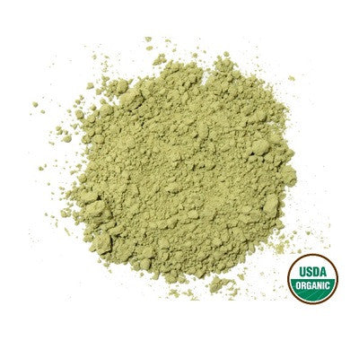 Organic genmaicha green tea powder
