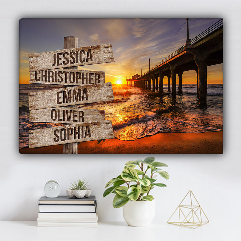 Beach V1 Color Family Names Premium Canvas
