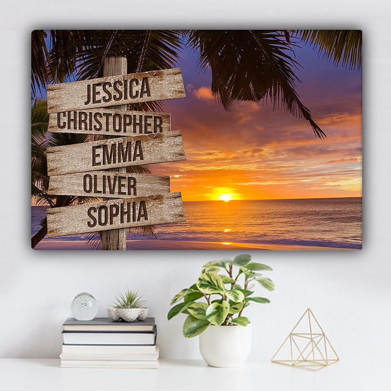 Beach V2 Color Family Names Premium Canvas