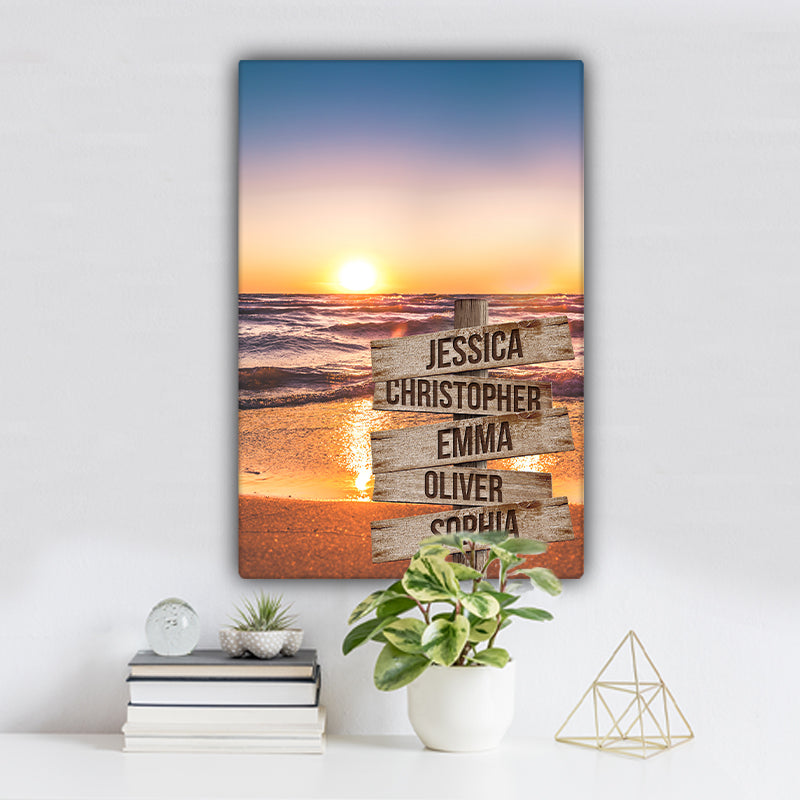 Beach V3 Color Family Names Premium Canvas