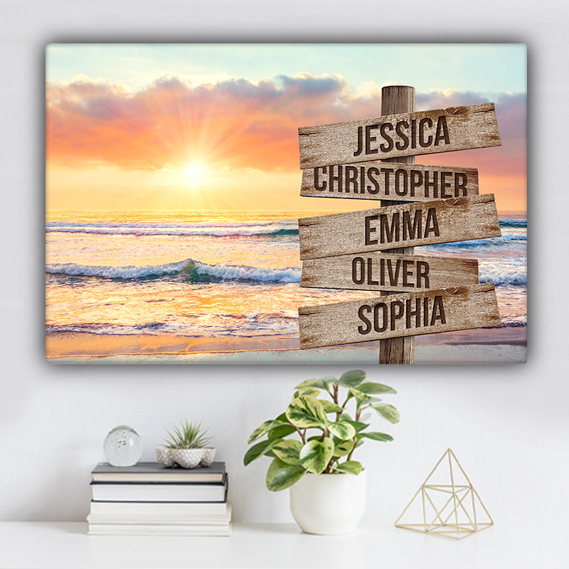 Beach V5 Color Family Names Premium Canvas