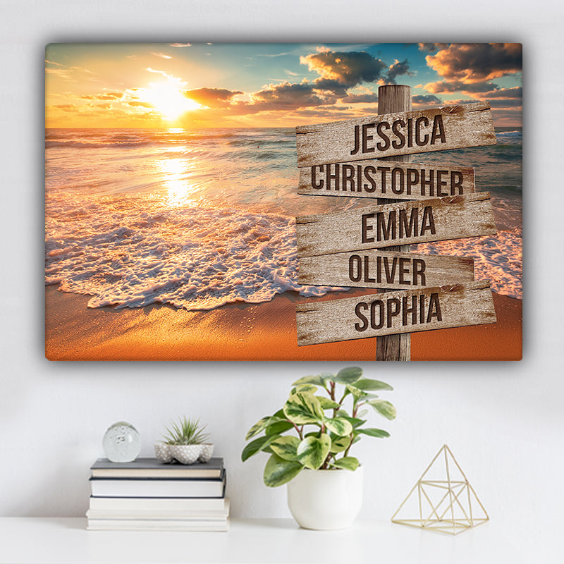 Beach V6 Color Family Names Premium Canvas