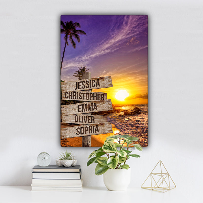 Beach V7 Color Family Names Premium Canvas