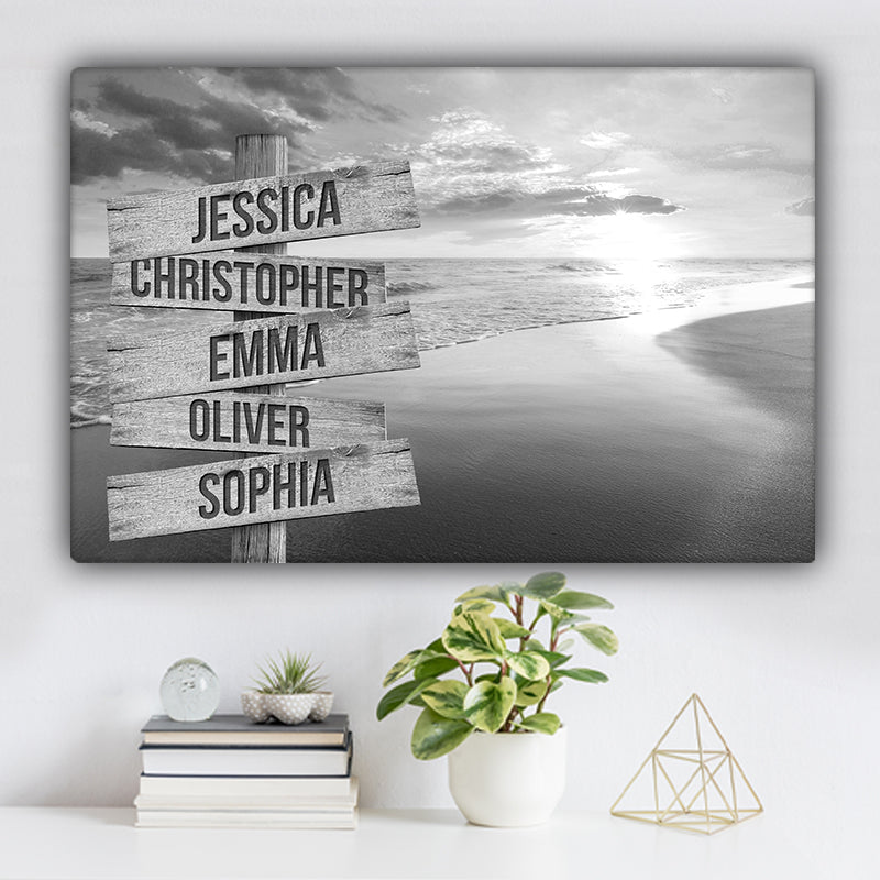 Beach V8 Family Names Premium Canvas